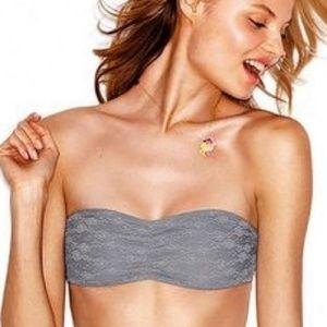 PINK Victoria Secret gray lace bandeau